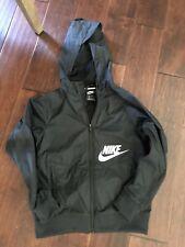 Boys Nike Black Windbreaker Jacket - Size S