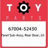 67004-52430 Toyota Panel sub-assy, rear door, lh 6700452430, New Genuine OEM Par