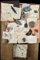 🗿 Mineral Specimens Rock Collection Estate Find Diamond dust, Topaz, Marble etc