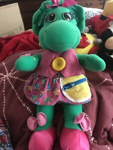 "XMAS GIFT VINTAGE TALKING BARNEY THE DINOSAUR,BABY BOP TOY 18"" WORKING"