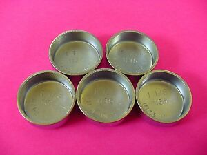 "Fit Ford 5pk 1-1/8"" Freeze Expansion Plugs Zinc Plated Steel Engine Cylinder NOS"