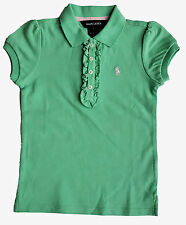 Ralph Lauren Girl Verde Piccolo PONY POLO top con increspatura 5y £ 45