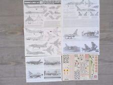 "SEA VIXEN FAW.2/F-100D/S.MYSTERE B.2/JAGUAR A ""5 FRENCH/DANNI"" MODELDECAL 1/72"