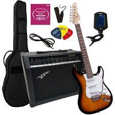 E-Gitarre ST5 SUNBURST,SET, 45.Watt VERSTÄRKER mit Mikrofoneingang, Zubehör,25M