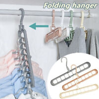 NEW 9 Hole Closet Organizer Space Saving Magic Hanger Clothing Rack Clothes Hook