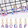 1PC Letters A - Z Initials Keychain Alphabet Keyring Bag Pendant Gift Fashion