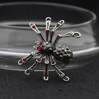 Fashion Animal Insect Spider Crystal Brooch Pin Women Men Jewelry Gift