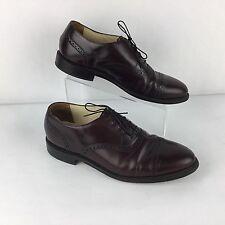 Bostonian Impression Oxford Men Shoes Sz 11 Burgundy Loafer Cap Toe Leather USA
