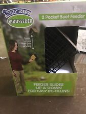 Effortless 2-Pocket Suet Feeder Effortless Products Tan/Black New In Box