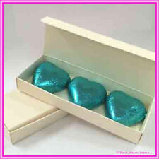 Bomboniere / Favor Cream Embossed Chocolate Heart Rectangle Box - Pack of 25