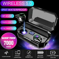 TWS Wireless Bluetooth 5.0 Earbuds HiFi Stereo Headphones Noise Cancelling IPX7