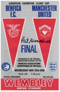 Paddy Crerand Manchester United 1968 European Cup Final Signed Programme