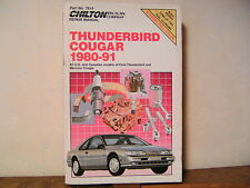 THUNDERBIRD - COUGAR 1980-91 Repair Manual Chilton