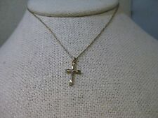 """14kt Gold Filled Cross Necklace, 18"""" chain with 3/4"""" cross pendant, signed PPC"""