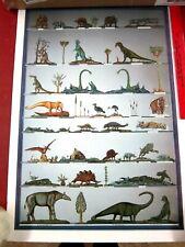 Rare vintage dinosaur poster 16x24 Hs Brumm Collection