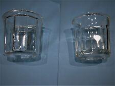 Lot de 2 pot différent à confiture en verre à facettes ancien