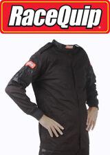 RaceQuip 111003 Medium Single Layer Black Race Driving Fire Suit Jacket SFI 3.2A