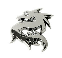 Sumex Branded Chrome 3D Sticker Self Adhesive Car & Home Emblem Badge - Dragon