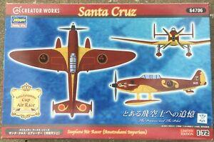 Seaplane Air Racer (Amatsukami Imperium) Santa Cruz, CREATOR WORKS/HASEGAWA 1/72