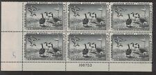 RW25 - Federal Duck Stamp.Plate Block Of 6.  MNH. OG. Fault.   #02 RW25PB6BL