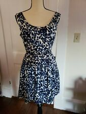 Forever 21 Animal Print A-Line Dress Women's Size Medium Scoop Studded Neck Line
