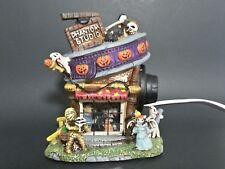 "Halloween Ceramic Haunted House ""Phantom Studio"" Lights Up"