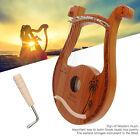 Professional Lyre Harp 19  String Mahogany Portable Lyre Harp Musical Instrument
