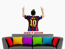 Personalised Messi Barcelona Football Player Wall Art Vinyl Decal Sticker 1