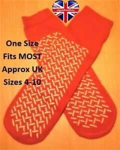 MEDLINE DOUBLE TREAD SLIPPERS / NON SLIP ANTI SKID RESISTANT SOCKS MOBILITY AID