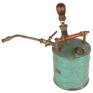 Very Nice Antique Vintage Garden Eclipse Abbey Sprayer Pump With Brass Fittings