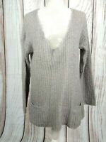 White Stuff Scoop Neck Lightweight Chunky Knit Jumper Loose Fit Size 8