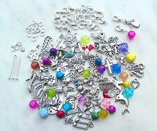 Bastel-Set für 24 Charms Schmuck Anhänger Adventskalender Charms Anhänger Perlen