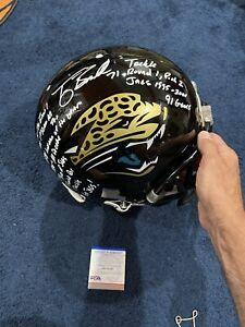 Tony Boselli Signed Authentic Stat Helmet, PSA Witness, 13 Inscriptions Jaguars