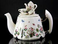 Vintage Portmeirion Botanic Garden Novelty Miniature Teapot