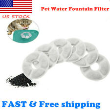 6pcs Pet Water Fountain Activated Carbon Filters Dog Cat Water Feeder Filters