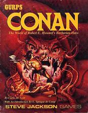 GURPS CONAN EXC+! The World of Barbarian Hero Steve Jackson Games Sourcebook
