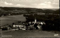 Rottenbuch Oberbayern Postkarte 1957 gelaufen Blick in Tal Dorf Kirche Umgebung