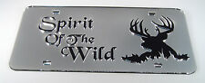 Deer Buck Hunting Spirit Mirror Acrylic License Plate Laser Cut Totem Wildlife