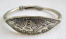 Old Hmong Hill Tribe Unisex Silver Bracelet Bird Design