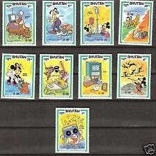 BHUTAN  # 397-405 MNH DISNEY History Communications Mickey & Friends