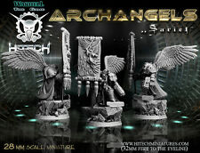 Hitech Miniatures - 28SF037 Archdiacre Sariel Standard Bearer Warhammer 40000