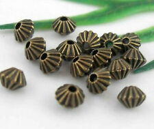 150Pcs Bronze Plated Spacer Beads 5mm   (Lead-free)