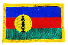 FLAG PATCH PATCHES NEW CALEDONIA CALEDONIAN   IRON ON COUNTRY EMBROIDERED SMALL