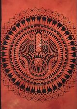 Orange Color Hamsa Wall Hanging Beautiful Design Cotton Tapestry Poster Indian