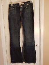 1921 LADIES SIZE 10 BLUE DISTRESSED BOOTCUT JEANS E3