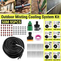 Misting Garden Irrigation System Micro Drip Water Hose Auto Planting Kit Nozzles