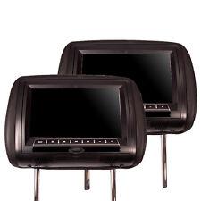 """SDC KS9DKu 2x 23cm 9"""" Kopfstützen Monitor mit DVD Player schwarz universal"""
