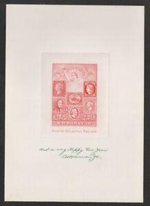 "B.H. Homan 1951/52 ""Proof"" Christmas Card North Atlantic Treaty (Hinged)"