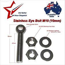 1 X M10 10mm x 60mm 304 Stainless Steel Eye Bolt Nuts & Washers fastener eyebolt