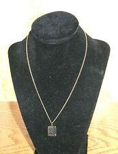 Jack Daniels Necklace Old No. 7 Whiskey Tennessee Black & Gold Vintage